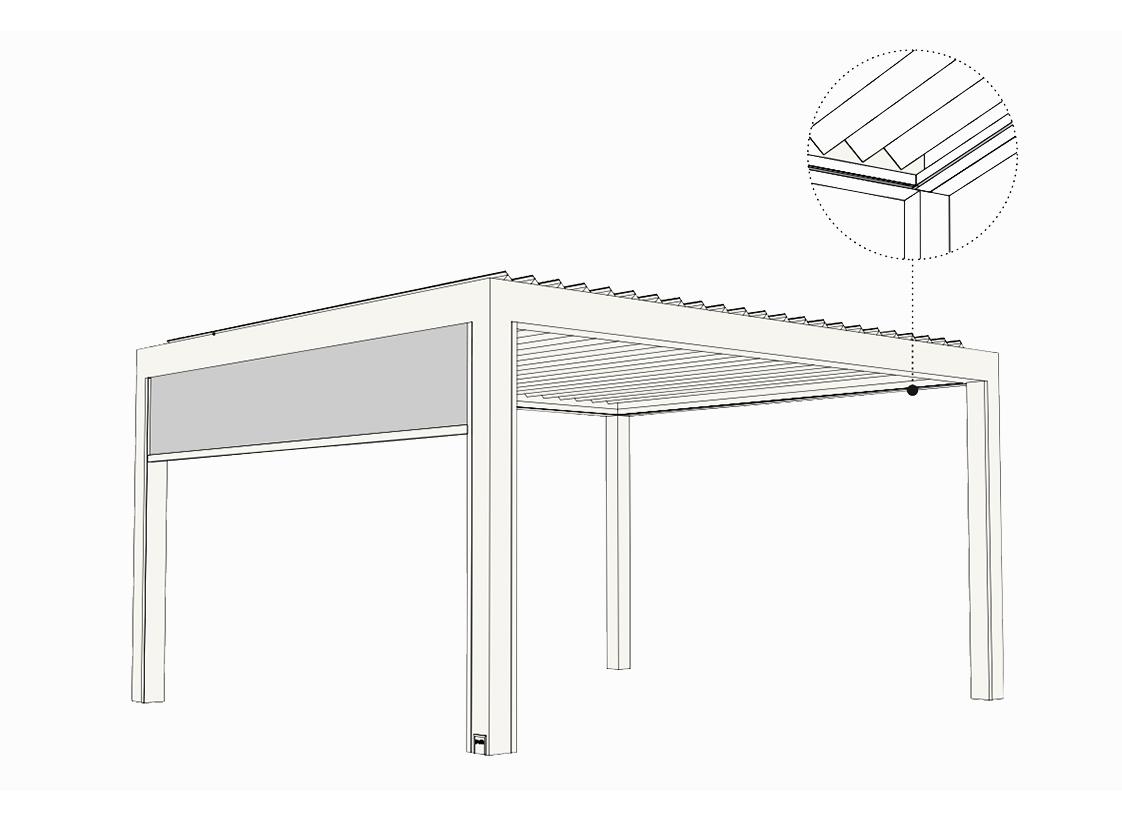 Intégration élégante des stores verticaux (raso)