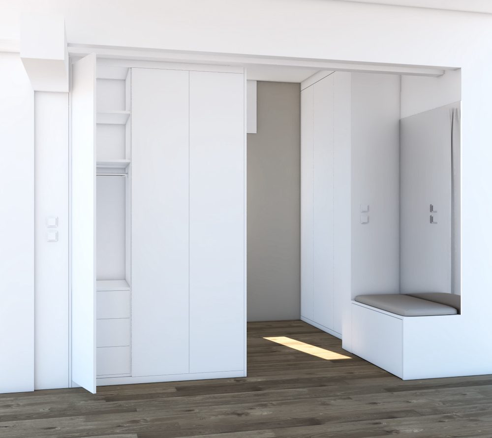 armoire rangement visuel