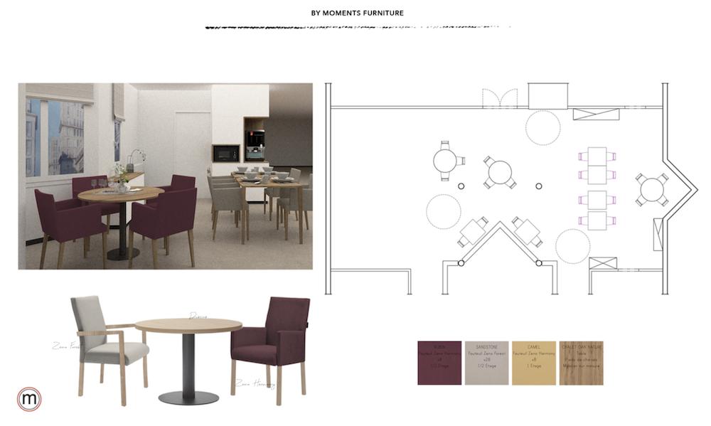 détail espace aménagement avec meubles sur mesure