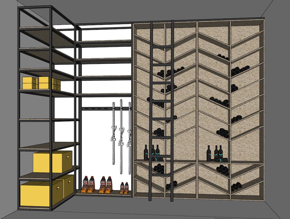projet espace de rangement cave